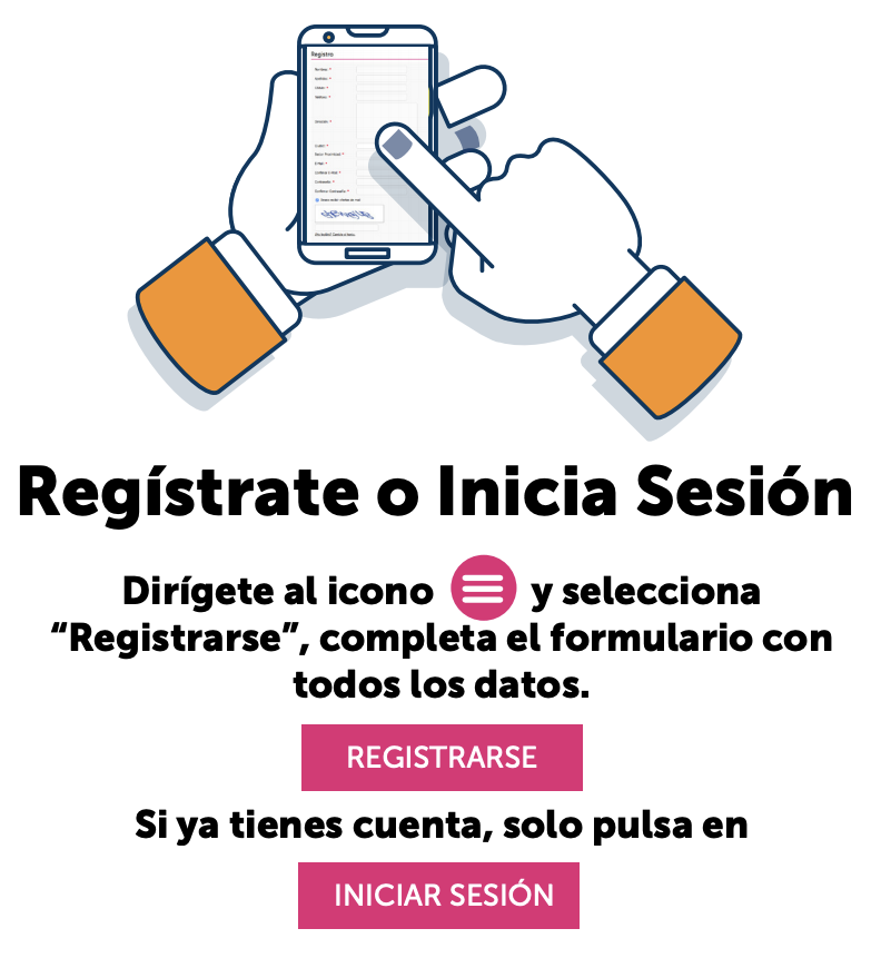 Registrate o Inicia Sesion